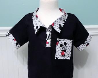Mickey Mouse Shirt - Mickey Shirt - Disney Boys Shirt - Boys Button Up Shirt - Disney Boys - Disney Shirt - Disney Vacation Shirt