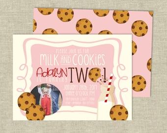 Birthday Party Digital Download | Milk & Cookies Birthday