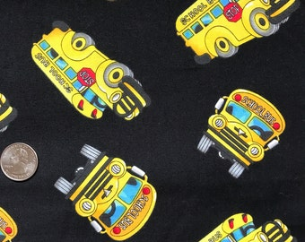 SCHOOL BUS Fabric, By Timeless Treasures ~ 100% Cotton Fat Quarter/ FQ, Fat Quarter for Quilting & Crafts