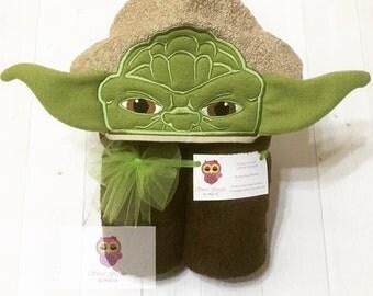 Yoda hooded towel, Wise master towel, kids hooded towel