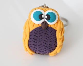 Yellow Owl Keychain
