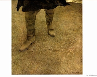 Large Prints The Trodden Weed and Nick and Jamie painted byAndrew Wyeth. The Page is approx. 16 1/2 inches wide and 13 inches tall.
