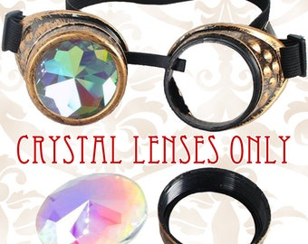 Crystal Kaleidoscope LENSES ONLY for Octopunx Steampunk Goggles Select Single or Pair