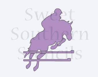Jumping Horse and Rider Cookie Stencil