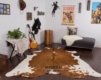 Rodeo Cowhide Rug Unique Pieces 7.6x6.11 - 1649