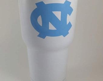 UNC tumbler, Carolina tumbler, Carolina blue, UNC cup, Carolina Cup, Personalized UNC cup