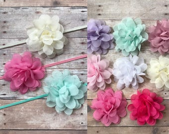 PICK 3 Baby Headbands, Baby Girl Headbands, Newborn Headbands, Shabby & Chic Headbands, Headband Set, Baby Headbands, Baby shower gift