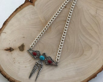 Eagle collared necklace