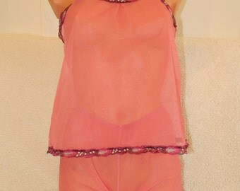 comfy,pajamas,comfortable,night wear,Vintage,NightWear,Large Slip,Top Set,Under,Skirt,Vest,White,Lace,Lingerie,crotchles,nightwear,plus size