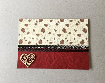 Valentine's Day card, Wedding card, anniversary card, heart card, blank inside, birthday card, female birthday