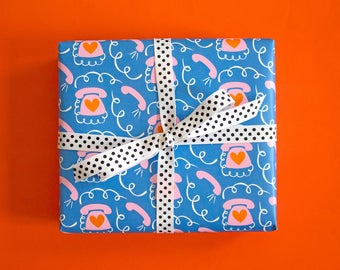 Call Me Gift Wrap, Single Sheet