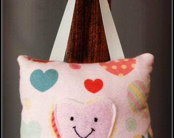 Pastel Hearts Tooth Fairy Pillow