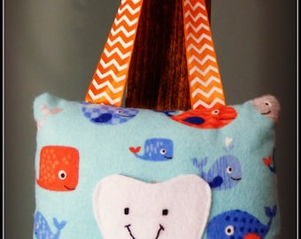 Whales & Fish Tooth Fairy Pillow