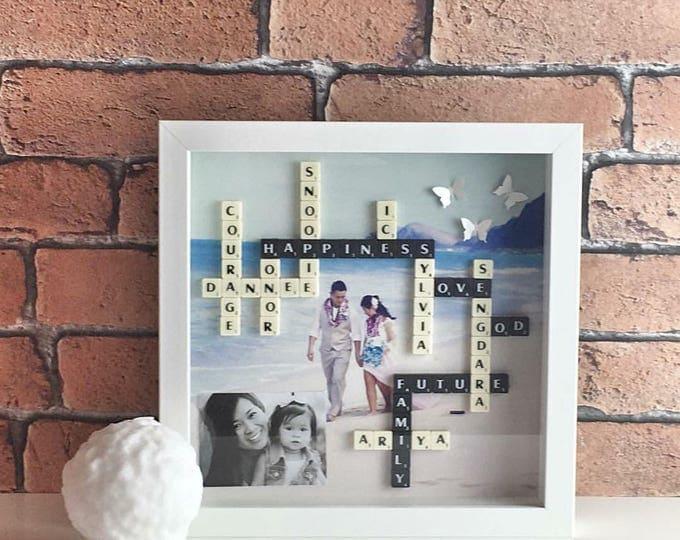 Photo Background Scrabble Frame