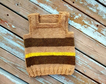 Baby Boy Sweater.Baby Sweater.Baby Boy Gift.Hand kneet Vest.Boys Hand Knitted Vest Tank Top.Knit baby sweater.Strips sweater baby.knit vest