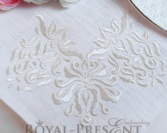 Machine Embroidery Design small Royal Vintage corner