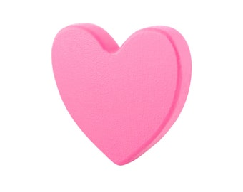 Pink wardrobe handles, Kids drawer knobs, Heart dresser knobs and pulls, Wooden drawer knobs, Heart pink decorations, Baby girl decorations