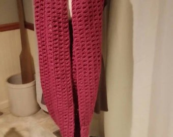 Crochet Infinity scarf.  Warm. Gift. Woman's.  Christmas.  Birthday.  Accessory. Crochet. Pink. Hood.  Valentine