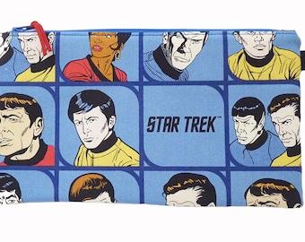 Star Trek Characters Makeup Bag, Gadget Bag, Pencil Case, Handmade in the UK