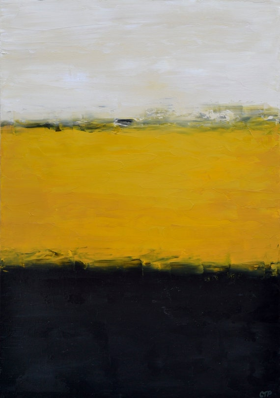 Original abstract oil painting 'View from a Train'