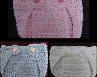 0/6 Month Crochet Diaper Cover