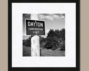 Dayton, Ohio Corporation Limit Sign Photo (Digital Download)