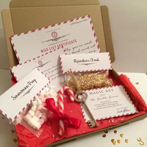 Personalised christmas eve box nice list reindeer food for Christmas eve food ideas uk