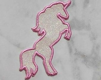 Iron On Glitter Unicorn Silhouette/Unicorn Patch /Glitter Unicorn/Custom Glitter Unicorn/Iron On Unicorn/Backback Patch/Unicorn Birthday
