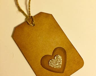 Gift Tags, Thank You Tags, Hanging Heart Tag, Heart Tags, Paper Tags, Favor Tags, Blank Tags, Handmade Tags, Recycled Paper Tags, Tags