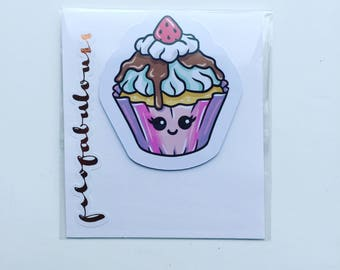 Cup Cake Magnetic Book Mark - Page Marker