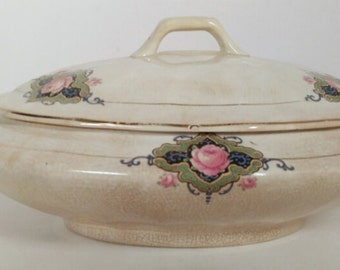 Antique Soup Tureen with Lid