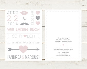 30 x wedding invitation | Typo No 1