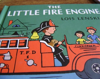 The Little Fire Engine by Lois Lenski, hardcover book , The Little Fire Engine book,  Child's storybook copyright  1967, Mint condition book