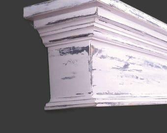 Large Distressed Shabby Wall Shelf, Distressed Mantel, Floating Wall Shelf, Mantel Shelf, Fireplace Mantel, Shabby Shelf, Housewarming Gift
