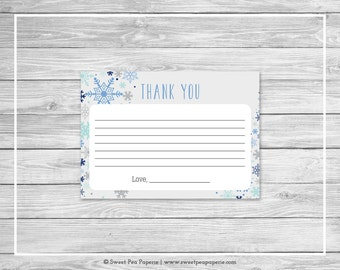 Winter Baby Shower Thank You Cards - Printable Baby Shower Thank You Cards - Baby It's Cold Out Baby Shower - Shower Thank You Cards - SP144