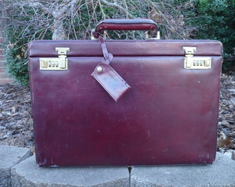 Leather Brief Case Attache