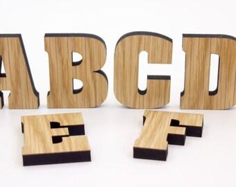 Oak Alphabet Letters