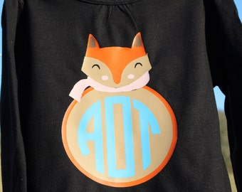 Girls Fox Monogram Shirt