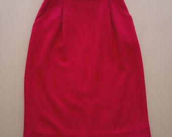 90's Red High Waisted Skirt | St. A