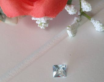 Espirito Santo Aquamarine Square Princess Cut 5.5 mm   0.64 Cts