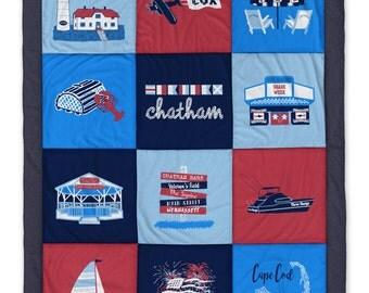 Chatham MA Destination Blanket