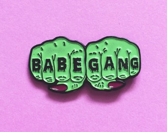 Babe Gang Knuckle Tattoo Enamel Pin