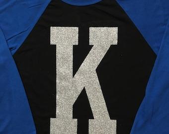 "Kentucky ""K"" Raglan (baseball) Tee"