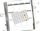 64 Gem Mini Bow Stickers | S098 | Planner Stickers