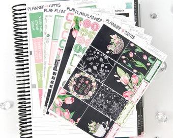 Bloom Deluxe Weekly Planner Kit | 270 Stickers | Planner Stickers | For Erin Condren LifePlanner