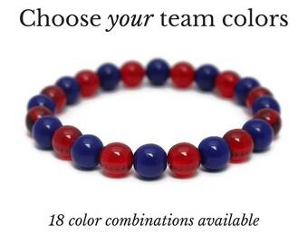 Baseball Colors - Team Spirit Sportswear - Baseball Bracelet - Gameday Jewelry - Baseball Mom - Game Day Gifts - Team Bracelet - Coach Gift