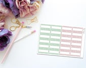 May Faux Glitter Mini Marquee -- Matte Planner Stickers