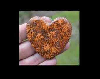 Starburst Stone Heart Cabochon