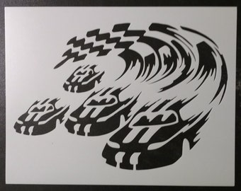 Nascar Car Auto Racing Finish Line Stencil FAST FREE SHIPPING