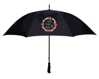 Alpha Kappa Alpha Floral Umbrella
